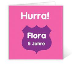 EInladung Kindergeburtstag Flora