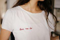 "T-shirt brodé ""Love me do"" Plus"
