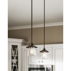 "Lowes Pendant Lights For Kitchen Captivating Allen  Roth 12""w Mission Bronze Edisonstyle Pendant Light With Inspiration Design"