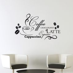 Sticker expresso stickers citation et texte pinterest - Stickers cuisine enfant ...