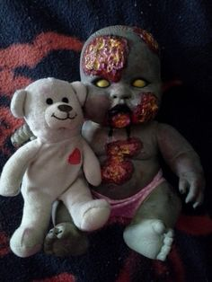 Rowena the Zombie Baby by MistressRae13 on Etsy, $18.00 #zombies #halloween #zombie babies