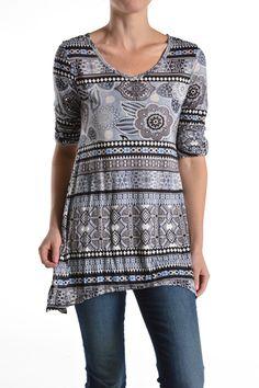 Aztec print tunic at J. Nicole.