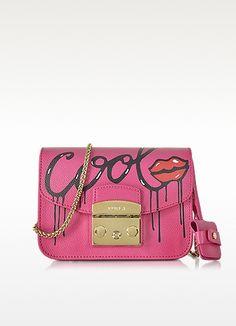Metropolis Mania Pinky Leather Mini Crossbody Bag - Furla