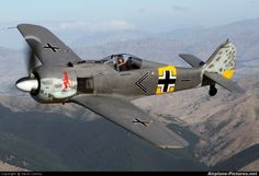 The Focke Wulf was one of the most feared planes in the German Luftwaffe. Ww2 Aircraft, Fighter Aircraft, Military Aircraft, Fighter Jets, Luftwaffe, Focke Wulf 190, Ww2 Planes, Aircraft Pictures, World War Two