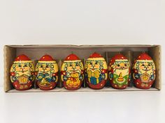 Excited to share this item from my shop: Vintage Russian hand painted christmas eggs, Vintage Christmas Decorations Festival Decorations, Christmas Decorations, Egg Decorating, Father Christmas, Antique Metal, Oil Lamps, Vintage Decor, Vintage Christmas, I Shop
