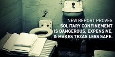 Solitary Confinement is torture. Americans don't want Texas Department, Solitary Confinement, Criminal Justice, Prison, American, Clothing, Outfits, Outfit Posts, Kleding