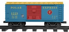 """G-Gauge Polar Express Christmas Boxcar Add-on Fixed knuckle couplers Plastic body Opening doors Gauge: Large Scale/G Gauge Dimensions: Length: 9 ¾"""""""