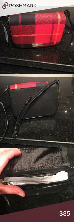 New with tags Kate Spade Newberry Lane plaid purse A brand-new Kate Spade Carson WKRU 3962 Newberry Land retails for 159 kate spade Bags Mini Bags