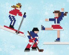 If you're a fan of wintertime sports, you'll love these three designs you can make from Perler Beads! Create a figure skater, a skier, and a hockey player, and make the most of your winter fun!