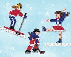 perler bead designs | Perler Project Ideas 7-9 Winter Sports
