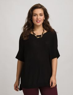 | Plus Size High-Low Pullover | dressbarn