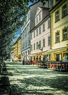 Cobbled Street In Prague by Alistair Ford Travel Images, Prague, Ford, Landscape, Street, Ford Trucks, Ford Expedition