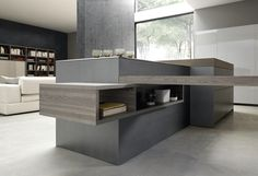 Lacquered fitted kitchen with island SEGNO ISLAND by Comprex design MARCONATO…