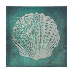 White Seashell Canvas - $14.95
