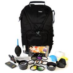 Complete Lens Filter Backpack  Accessories for Nikon D3200 D3100 D5100 D5200