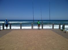 Fishing on one of Durban's piers. image taken by Karen Bradtke