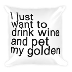 Now available Wine + Golden Dog... Get it here http://necklace.com/products/wine-golden-dog-square-pillow?utm_campaign=social_autopilot&utm_source=pin&utm_medium=pin #necklace #necklaces #jewelry #fashion