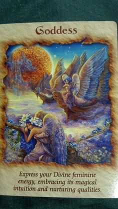 Goddess from the Doreen Virtue's Angel Therapy Oracle Cards