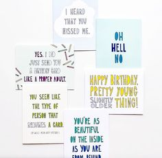 Love funny greeting cards? Near Modern Disaster cards are hilarious and perfect for making someone laugh while you wish them a happy birthday or tell them you miss them. Funny Cards For Friends, Birthday Cards, Happy Birthday, Old Person, Funny Greeting Cards, Hilarious, Modern, Bday Cards, Happy Brithday