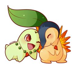 Chikorita & Cyndaquil Commission for ---------------------------------------- Do you love my work? COMMISSION: Chikorita and Cyndaquil Ice Pokemon, Lucario Pokemon, Pokemon Fan, Cute Pokemon Pictures, Pokemon Images, Cute Pictures, Cinderella Pictures, Pokemon Starters, Cartoon Fan