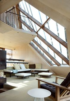 Interior of Dune house. Architecture by Marc Koehler architects. Engineered by AchterboschZantman architecten.