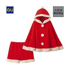 (GU)マシュマロフィールサンタポンチョセット(クリスマス) - GU ジーユー