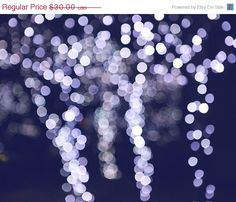 40% OFF Abstract Photograph - whimsical black white home decor sparkle silver blue tree 8x10