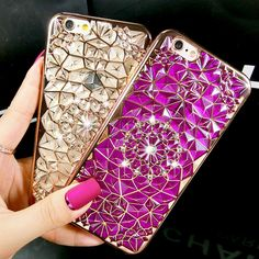 Electroplating FlowersPhone Cases Cover For iPhone //Price: $7.35 & FREE Shipping Coupon Code #INSTA10