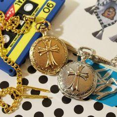 クロス十字架モチーフ ゴシック調 懐中時計 シルバー Watch pocket watch ¥1050円 〆03月28日