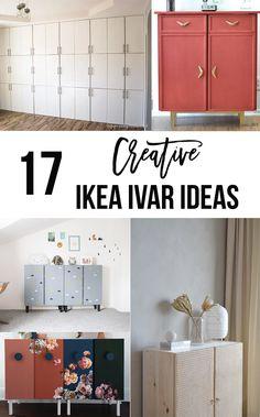 Save these AMAZING Ikea Ivar hacks for the future! So many creative ideas to use the Ikea Ivar Cabinet
