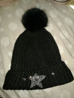 f8d102913e1ebd Victoria's Secret Winter Angel Sparkling Star Hat Beanie Black #fashion  #clothing #shoes #accessories #womensaccessories #hats (ebay link)