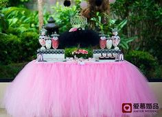 Wedding Party Tulle Tutu Table Skirt Birthday Shower Xmas Bouquet Decoration