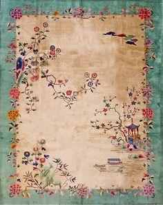 "#219 Chinese Art Deco carpet 9'0"" x 11'6"" circa 1920"