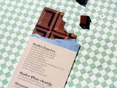 Faire-part de mariage original menu Chocolat - Crème de papier - Nos 10 créateurs de faire-part de mariage préférés - L'EXPRESS