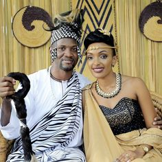 Image may contain: 2 people African Wedding Attire, African Attire, African Wear, African Style, African Beauty, African Dress, African Fashion, African Traditional Wear, Weding Dresses