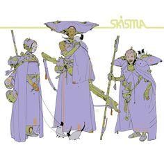 "Calum Alexander Watt""Three Sisters. Wandering Space Nuns, fighting the good fight on #Skisma."""
