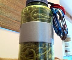 Multiuse paracord hammock in a Nalgene.