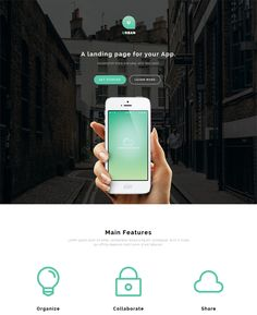 This landing page WordPress theme offers a Bootstrap framework, a one page design, a responsive layout, more than 300 icons, cross-browser compatibility, support for background images, sliders, or videos, a clean design, and more.