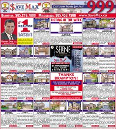 Our Brampton Guardian Ad for this Week with all the Information about Save Max #OpenHouses for the weekend! Once again, we thank Brampton for Choosing Raman Dua as the Top Realtor & Save Max as one of the Top Real Estate Offices in 2016 Readers Choice Awards. We are truly honored by your support and look forward to serving you even better this coming year!! Save Max Real Estate
