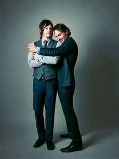 Outtakes from Andrew Lincoln and Norman Reedus cover photo shoot - - Photo Albums - Atlanta Magazine #thewalkingdead
