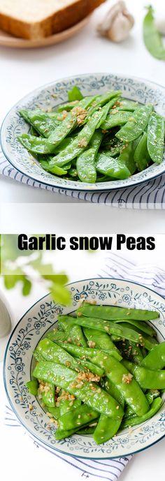 Garlic snow peas stir fry Pea Recipes, Side Recipes, Vegetable Recipes, Vegetarian Recipes, Cooking Recipes, Healthy Recipes, Cooking Stuff, What's Cooking, Baked Asparagus