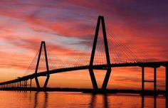 The Ravenel Bridge from Charleston to Mt. Pleasant, SC