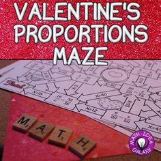 Valentine's Proportions Activity- Maze