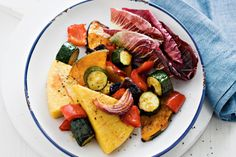 This healthy roast vegetable and polenta salad makes a great meat-free meal.