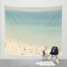 beach Wall Tapestry by Ingrid Beddoes | Society6