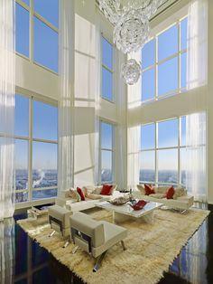 Ultra Luxury Design: A Billionaires Penthouse In New York - Luxury Homes New York Penthouse, Duplex New York, Luxury Penthouse, Penthouse Apartment, Luxury Condo, Luxury Homes, Manhattan Penthouse, Tower Apartment, Cozy Apartment