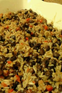 Cuban black beans and rice, adapted from cooks illustrated