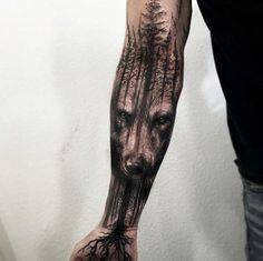 Download Free ... tattoos forest tattoo sleeve sleeve tattoos forest wolf tattoo tattoo to use and take to your artist.