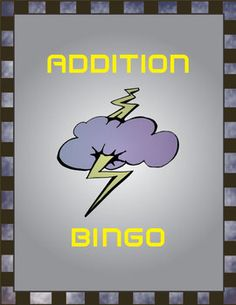 Addition Bingo Math Game Covers Facts 1-10