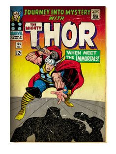 Marvel Comics Retro: The Mighty Thor Comic Book Cover No.125, Journey into Mystery (aged) Prints at AllPosters.com
